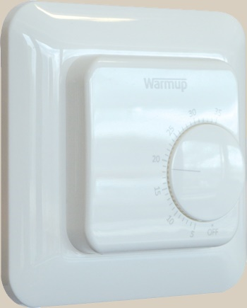 manual thermostat central heating and underfloor heating